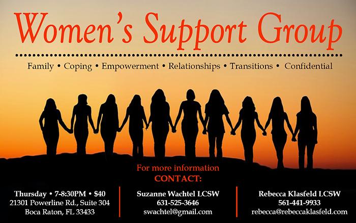 Rebecca Klasfeld, LCSW Women's Support Group Boca Raton FLA